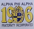 Alpha 1906 T Shirt - White alpha t shirt with 1906, shield and alpha phi alpha fraternity, inc