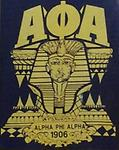 Alpha 1906 Sphinx T Shirt - Black t shirt with sphinx alpha letters and founding year