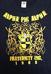 Alpha 1906 Fraternity Shirt - Black Alpha shirt with shield and lines