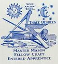 Masonic Since Ancient Times White T-Shirt - Mason shirt mater mason fellow craft