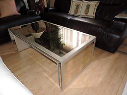 Macyu0026#039;s Sophia Mirrored Coffee Table Macyu0026#039;s Sophia Mirrored