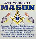 Masonic Ask Yourself White T-Shirt - Masonic white t shirt ask yourself mason
