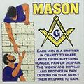 Masonic Brothers White T-Shirt - Masonic white t shirt each man is a brother in charity to share....