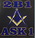 Masonic 2B1 Ask1 Color T-Shirt - Masonic color shirt with 2b1 ask1 and compass square