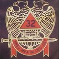 Masonic 32nd Color T-Shirt - Masonic color shirt 32nd wings down