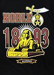 Shriners Noble Color T-Shirt - Black color shirt noble shriners 1893