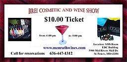 Cosmetic and Wine Show On December 3rd, 2016, a ladies night out will be presented with Brei cosmetic and wine evening