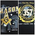 Masonic Worldwide Brother Hood Shirt - Front&back masonic worldwide brotherhood color shirt compass an square. 3 degees of light