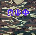 Omega Camouflage Embroidered Shirt - Camouflage short sleeve embroidery shirt