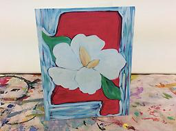 Mississippi Magnolia Notecards Studio Whimzy notecards are printed on thick, high quality cardstock and folded. Each set includes 7 cards with the image shown printed on the front of the card and matching white envelopes.