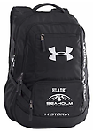EMBROIDERED UNDER ARMOR BACKPACK - Black Under Armor backpack with embroidered Seaholm Girls Basketball logo with option to add name as well. See details below.