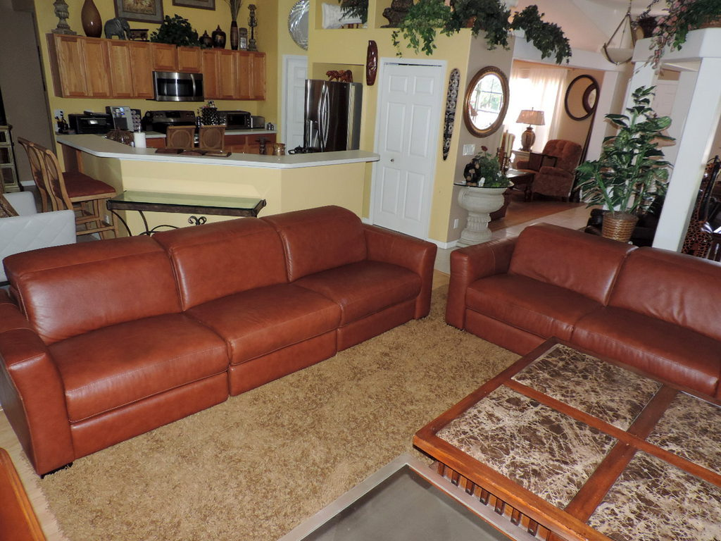 Macy S Nicolo Cognac Leather Quintuple Electric Reclining