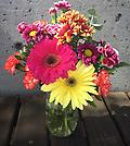 Mason jar mix bouquet - Mason jar mixed Floral arrangement.