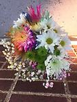 Rainbow Bright Bundle - Rainbow Bright Bundle of loose cut flowers, no vase