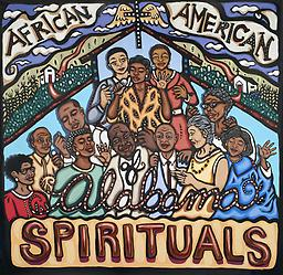 "African American Spirituals: Traditional Musics of AL Vol. 6 Produced and digitally mastered by Steve Grauberger, this CD contains 20 songs that represent a broad definition of African American ""spirituals."" Cover art by Bethanne Bethard Hill."