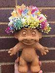 big flower child - our biggest unique flower child with flowers blooming from the head!!!