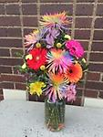 mixed mum and daisy bouquet - our beautiful tye dyed mums and Gerbera daisy mixed bouquet