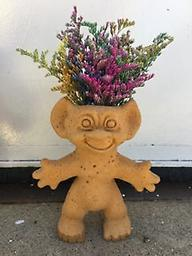medium flower child our unique medium sized flower child with flowers growing from the head!!