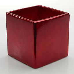 Red Party Pot Add some festivity to your next arrangement with our square Red Party Pot.