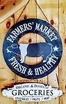 Pig Farmers Market Sign - Vintage look Farmers Market sign 2 in stock
