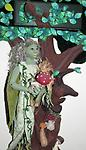 Vodoyer - Wood - A portrait of Vodoyer who represent the element Wood. She is depicted with an old Ent, Mossy Beard