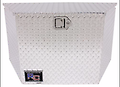 """Aluminum A-Frame Trailer Tongue Toolbox - Large - RC Manufacturing Toolbox - 350975 Ideal for the front of cargo, horse and utility trailers. Aluminum Tongue mounted boxes features.072"""" diamond treadplate, a stainless steel latch and hinge. Depth: 1"""