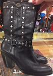 Harley Davidson Studded and leather Boots Size 7 USED - Harley Davidson Studded leather boots size 7 women's.