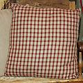 "Cranberry Plaid Throw Pillow - Cranberry Plaid Homespun throw pillow 18"" x 18"" 1 in stock"