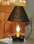 "Willow Lamp - Willow shaped lamp with chimney 9.5""H electric"
