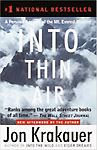Into Thin Air - Library Bound Free Logo Free Permanent barcodes Quantity Pricing begins at 25