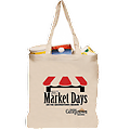 Market Day Canvas Shopping Tote - Market Day Canvas Shopping Tote