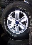 "17"" F150 Alloy Wheels Tires 05-17 Goodyear - This is a set of used Ford F150 Wheels, tires and center caps. 17"" alloy wheel and Goodyear Wrangler owl tires."
