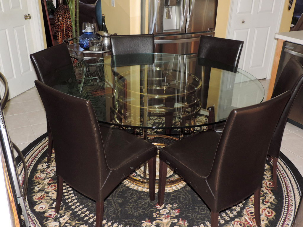 Bloomingdale S Mitchell Gold Jules Br Gl Top Dining Set