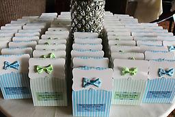 "Little Man and Little Lady Baby Shower Favors. 50ct. A little box that delivers the best in taste and quality. A perfect way to say ""Thank You""!"