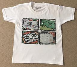 Character T-Shirts for Children These shirts proudly feature Sunny's illustration of all four of his characters: Lucky Cat, Daruma, Kappa, and Kokeshi!