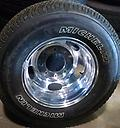 "Ford Super Duty Dually Wheels Alloy 17"" - New Take Off polished alloy factory wheels, tires and center caps. Michelin LT 245/75R17"