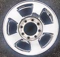"17"" Ram Chrome Wheels 2500 3500 - Set of 4 Factory Ram Chrome Clad Wheels"