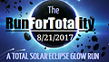 1 Mile Fun Run Ticket! - 1 Mile GLOW Run During Total Solar Eclipse! Price Includes T-Shirt. The winner of this event will receive 10% of all profits to be donated to the charity of their choice! All Sales are final.