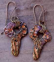 Weathered Earrings Lots of character in these dangles-- texture, rings, and organic design will have you reaching for these every day!
