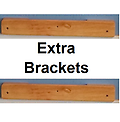 The Attic Safety Ladder - Extra Brackets - The extra brackets for the Attic Safety Ladder allow you to use the ladder anywhere there is an attic access. They are the same for all ladders. They are ready for finishing.
