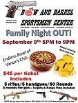 (10909) Sep 9th - Family Night OUT - Includes Chili and corn bread, all you can eat