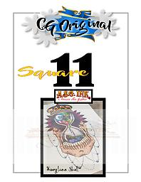 Hourglass Skull Square 11 Entry on Square 11 of 25 for Chance to WIN a CG Original $500 Value Tattoo with Mousie