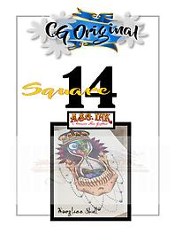 Hourglass Skull Square 14 Entry on Square 14 of 25 for Chance to WIN a CG Original $500 Value Tattoo with Mousie