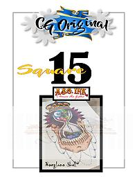 Hourglass Skull Square 15 Entry on Square 15 of 25 for Chance to WIN a CG Original $500 Value Tattoo with Mousie
