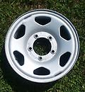 "Geo Tracker / Sunrunner 15x5.5 5on5.5 60160 - Single 15"" steel wheel - 6 slot -"