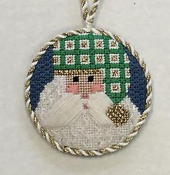 October 2017 Ornament Kit Exclusive Diversions Needlepoint hand painted canvas, threads and stitch guide by Mary Lou Kidder. SHIPPING INCLUDED!