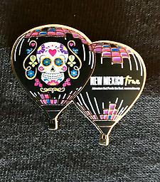 New True-Lee Pin for 2017 Collectible Hot Air Balloon Pin featuring the full view of this beautiful balloon.