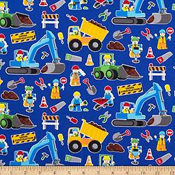 Trucks on Blue fac-0344973 Fun print of work trucks that kids are fascinated with. For ages 2 years - 7 years. Soft comfortable cushioned mattress with all the rest for a good sleep.