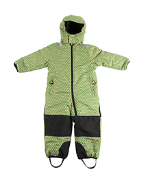 Ducksday Toddler/K Skisuit (Funky Green) One-Piece Skisuits - windproof, waterproof, and breathable - for kids that like some serious snow fun! Keeps them warm up to -25° C*.