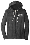 LADIES ECO EMBROIDERED FULL ZIP HOODIE - High-quality full zip ladies hoodie with embroidered Seaholm Girls Basketball logo.